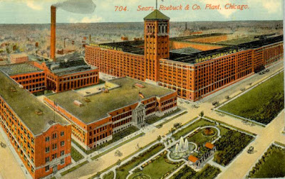 searschuckmanPOSTCARD - CHICAGO - SEARS ROEBUCK PLANT - AERIAL - EARLY