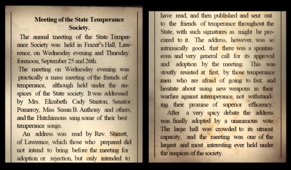 Temperance article for blog